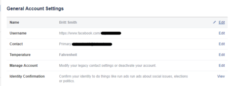 Step 2 in designating a facebook legacy contact