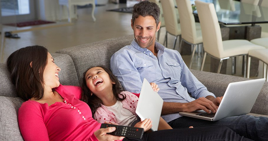 family unconcerned about a data hacker long