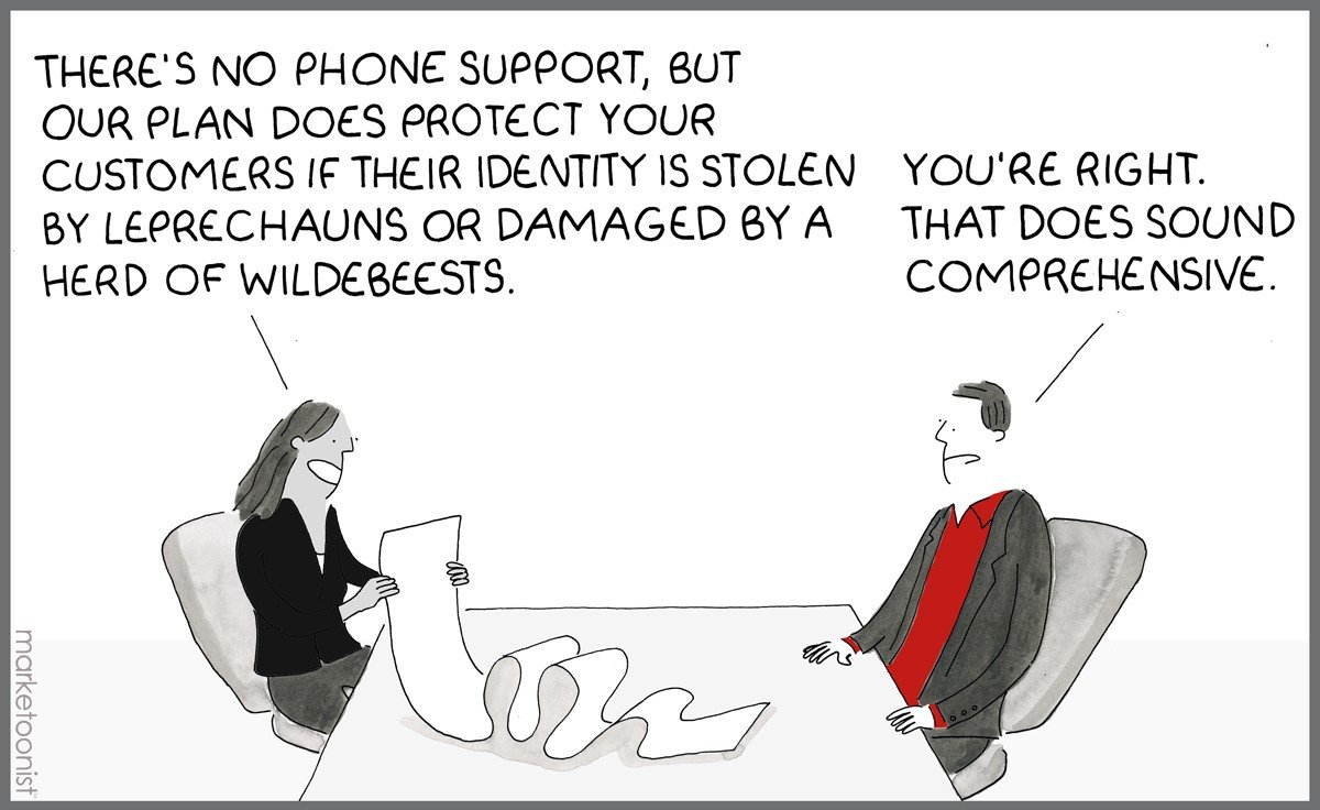 Funny comic about Identity protection