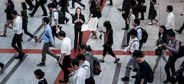 Woman Standing in Crowd, No Overlay Image_980x450